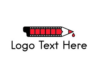 Screen - Movie Screenwriter logo design