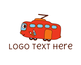 Friendly - Friendly Red Bus logo design