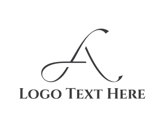 Fashion Store - Elegant Letter A logo design