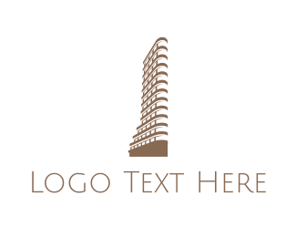 Ny - Flatiron Building logo design