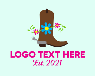 Ranch - Western Boot logo design