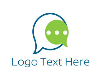 Social Media - Talk Bubbles logo design