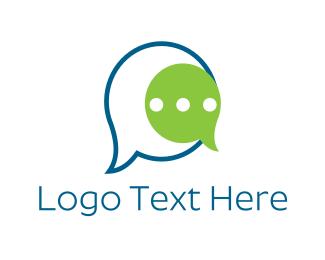 Forum - Talk Bubbles logo design