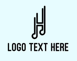 Song - Musical Letter H logo design