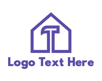 Demolish - Purple Hammer House logo design
