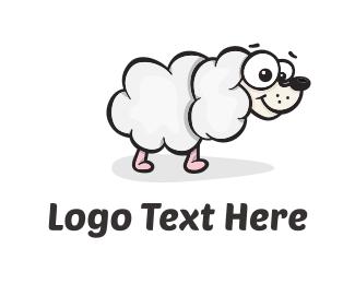 Sheep - Sheep Dog Cloud logo design
