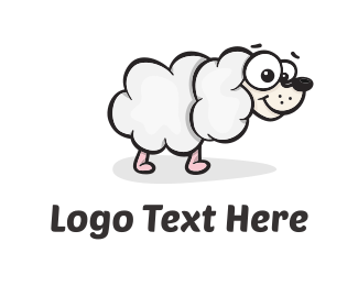 Sheep - Sheep Dog Cloud logo design