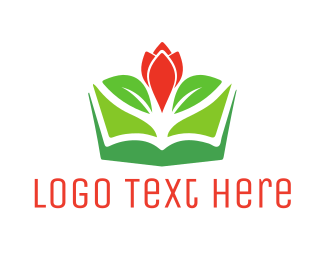 Tulip - Flower Book logo design