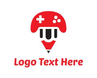 Esports - Pencil Game logo design