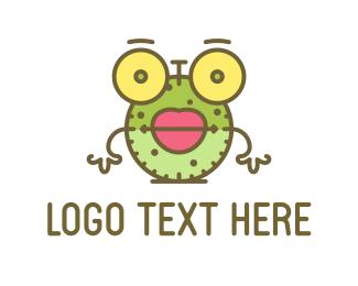 Lips - Clock Cartoon logo design