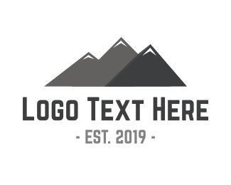 Outdoors - Mountain Peaks logo design