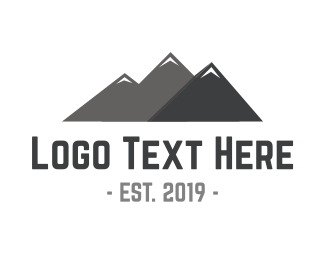 Hiking - Mountain Peaks logo design