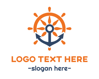 Navigation - Anchor & Wheel logo design