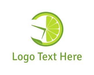 Minute - Lemon Clock logo design