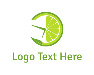 Lemonade - Lemon Clock logo design