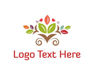 Herb - Floral Bouquet logo design