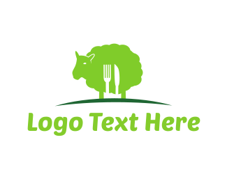 Meat - Green Lamb logo design