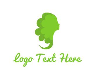 Beautician - Green Lady logo design
