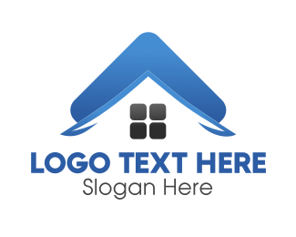 Roof - Blue Roof logo design