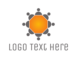 Business Software - Hexagonal Business Table logo design