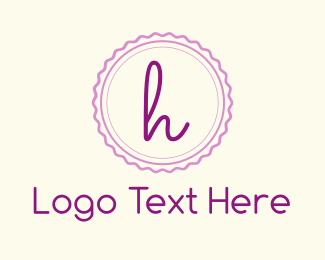 Candy - Cute H Emblem logo design