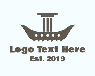 Boat - Pillar Boat logo design