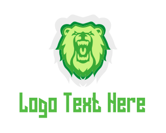 Fang - Wild Green Bear logo design