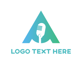 Podcast - Mint Microphone  logo design