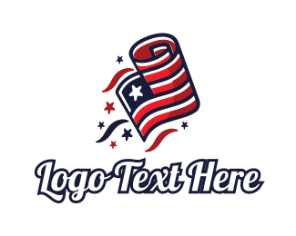Veteran - Patriot Flag logo design
