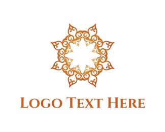 Flower - Golden Flower logo design