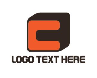 Orange And Brown - Orange Letter C logo design