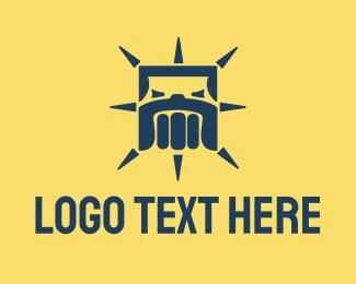 Fist - Bulldog Fist logo design