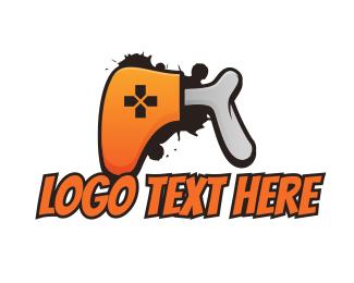 E Games - Bone Game Controller logo design