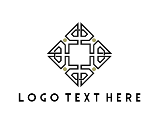 Floral - Geometric Tile logo design
