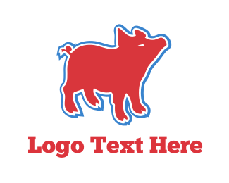 Butcher - Fun Hog logo design