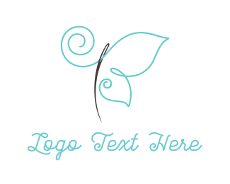 Insect - Thread & Butterfly logo design