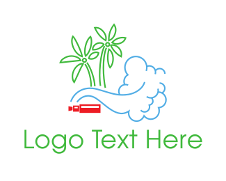 Vape - Tropical Vapes logo design