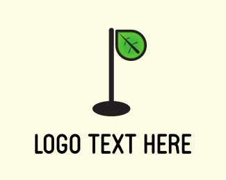 Hole - Leaf Lamp logo design