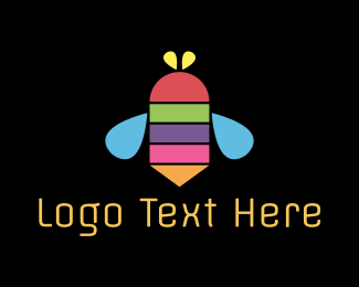 Colorful - Color Bee logo design