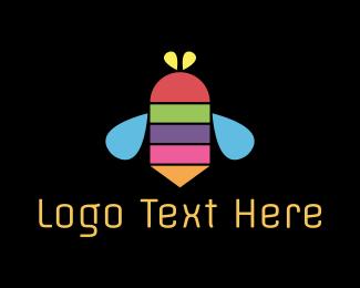 Sting - Color Bee logo design