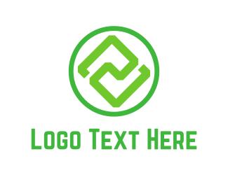 Balance - Green Symmetry logo design