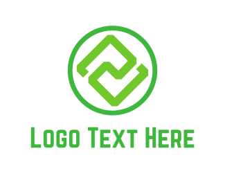 Balance - Green Symmetry logo design