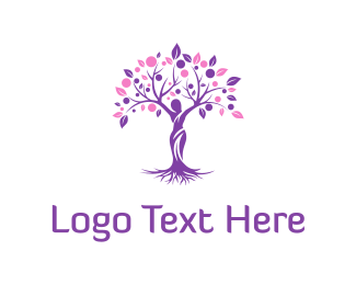 Woman Tree Logo Maker