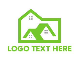 Land - Green Box House logo design