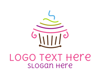 Birthday - Cupcake Art logo design