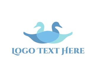 Restaurant - Two Blue Ducks logo design