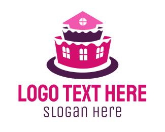 Residence - House Cake logo design