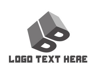 Perspective - Grey Letter B logo design