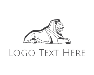 Egyptian - Egyptian Lion  logo design