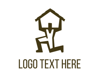 Manufacturing - House Man logo design